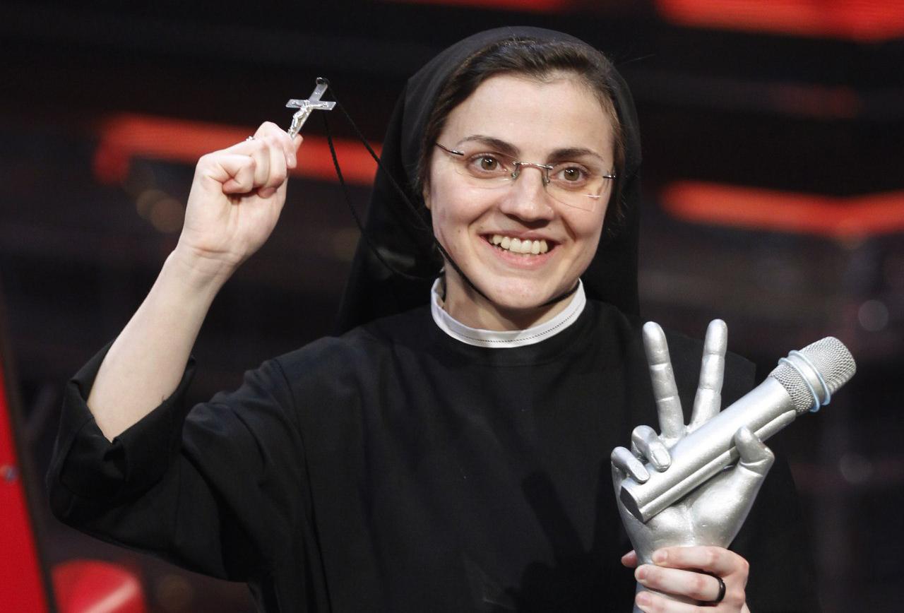 Католическая монахиня выиграла конкурс «Голос Италии»