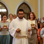 Миропомазание в кафедральном соборе Москвы