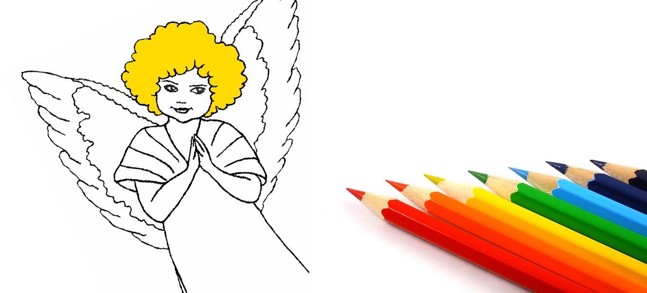 Христианские раскраски: ангелы
