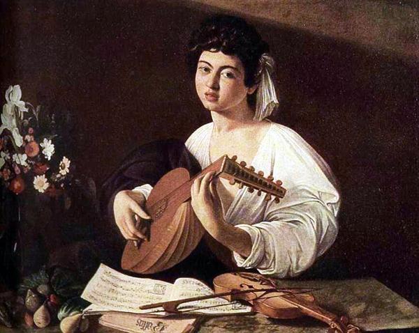 "Микеланджело-Меризи Караваджо, ""Юноша с лютней"", ок. 1595 г."