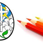 Христианские раскраски: пасхальные яйца