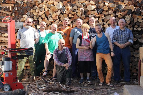 Команда из священников и добровольцев из Словакии по заготовке дров для Христианского Дома г. Алдана