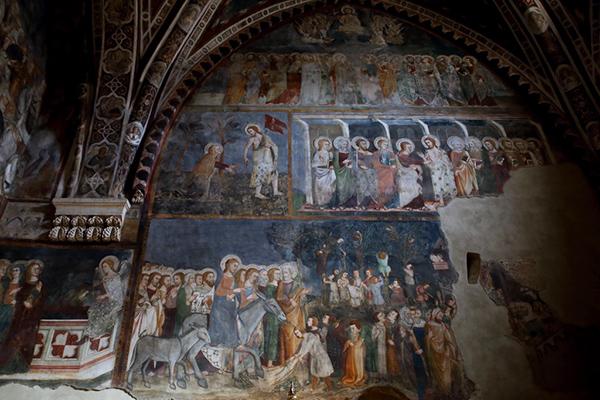 Фрески. Монастырь Сакро Спеко. Foto di Matteo Nardone