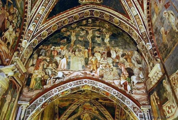 Монастырь Сакро Спеко. Верхняя церковь. Фотография с сайта www.monasterisubiaco.com