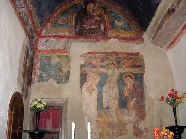 Скит святого Онуфрия. Фрески XIII века. wikipedia.org