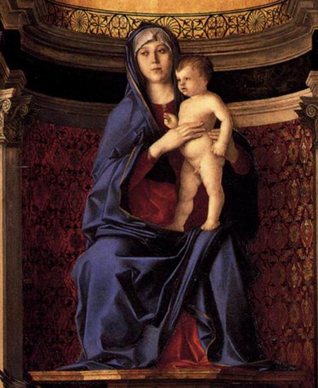 Джованни Беллини. Мадонна с младенцем. Часть триптиха. 1488. Церковь Санта-Мария-дей-Фрари, Венеция