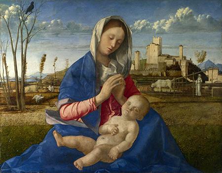 Джованни Беллини. Мадонна на лугу. 1505. Национальная галерея, Лондон