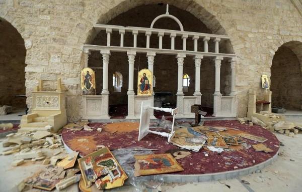 Церковь св. Марии в Ябруде после освобождения от джихадистов. Фото: www.bogoslov.ru