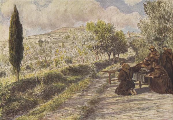 Эжен Бюрнан. Франциск Ассизский. Бумага, карандаш. 1919