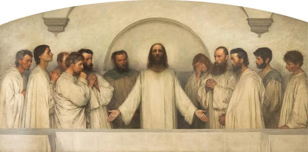 Эжен Бюрнан. Молитва.1900-1918. Холст, масло
