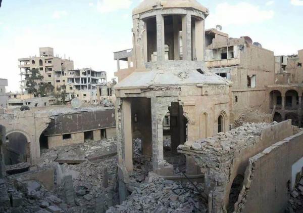 Разрушенный армянский мемориал в Дайр-эз-Заур. Фото: armenianweekly.com