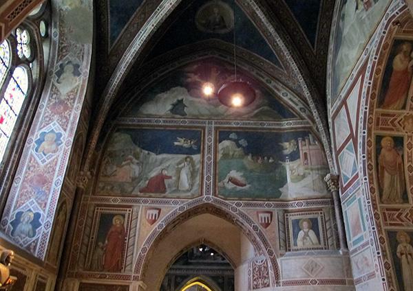 Капелла Марии Магдалины. Нижняя церковь базилики Святого Франциска Ассизского. 1307-1308