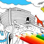 Христианские раскраски: Ноев Ковчег