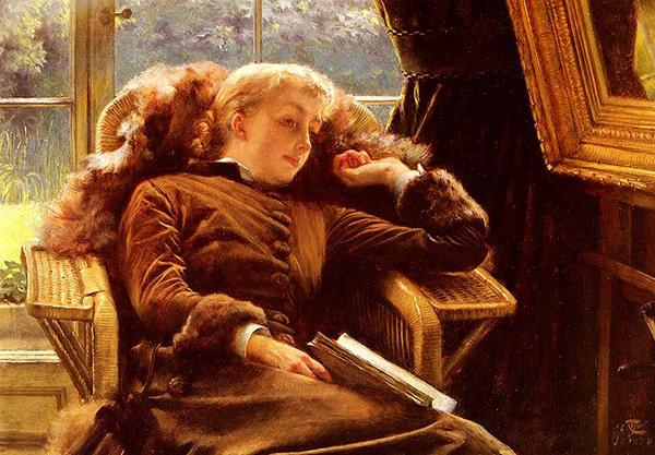 Джеймс Тиссо. Кэтлин Ньютон в кресле. 1878. Холст, масло. Частная коллекция