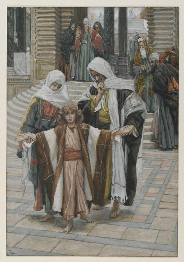Иисус Христос, Мария и Иосиф в Храме