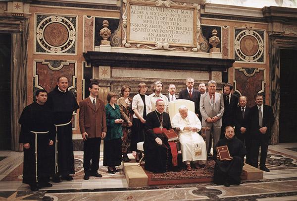 Презентация 1 тома Католической Энциклопедии в Ватикане. С Папой Иоанном Павлом II.