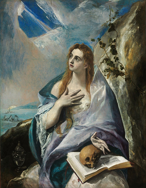 Кающаяся Мария Магдалина. 1577. Холст, масло. 157х121. Музей изящных искусств, Будапешт