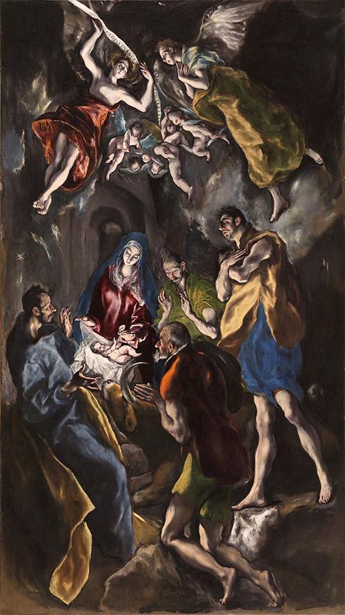 Поклонение пастухов. 1612-1614. Холст, масло. 320х180. Музей Прадо, Мадрид