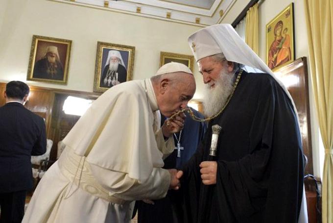 Папа встретился с болгарскими православными иерархами
