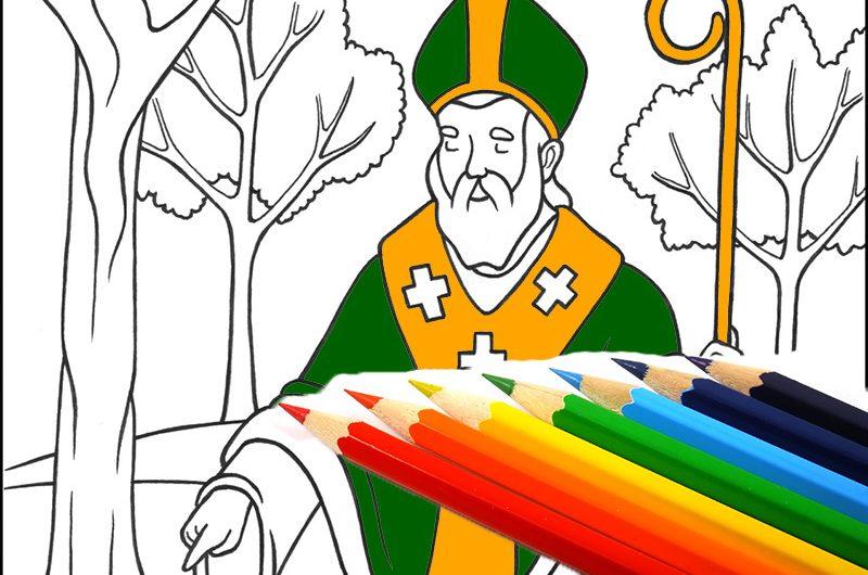 Христианские раскраски: святой Патрик