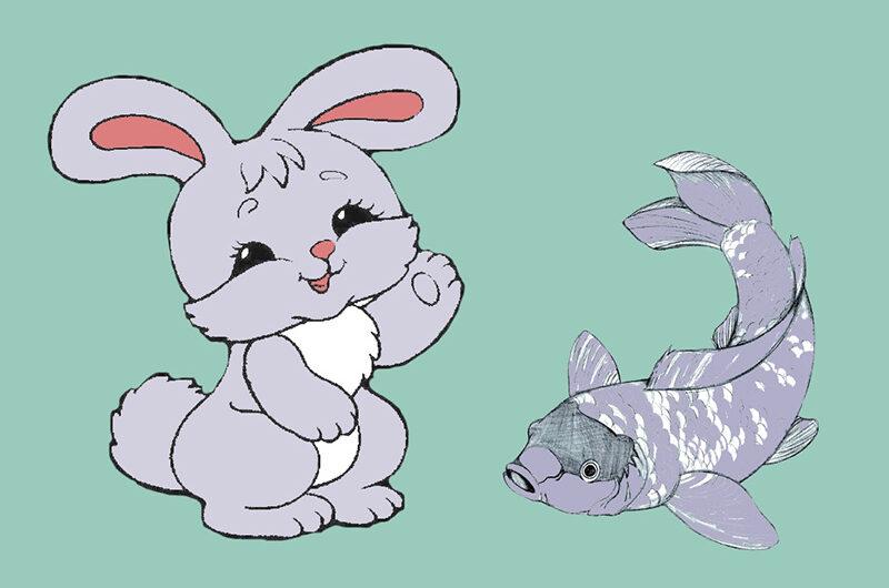 Зайчик и Карпик